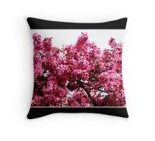 Crab-apple Blossoms Throw Pillow