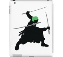 Zoro with Swords Silhouette (Green Hair Pirate) iPad Case/Skin