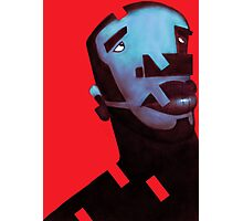 Blue man Photographic Print