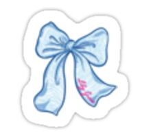 Blue Bow Transparent Sticker Sticker