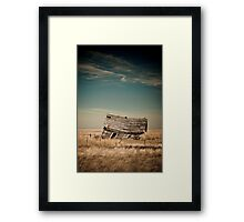 Leaning Towards The Past Framed Print
