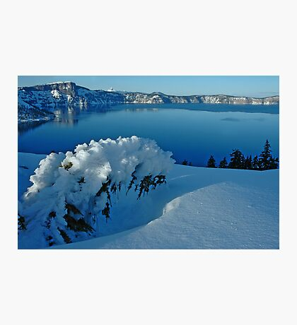 Crater Lake Winter Landscape 3 Photographic Print