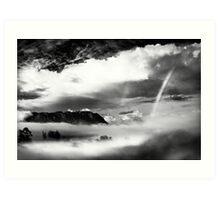 Mount Roland with rainbows Art Print