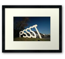 PSSST Sculpture, Bordeaux, France 2012 Framed Print