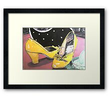 1940s Shoes on Laminex. Framed Print