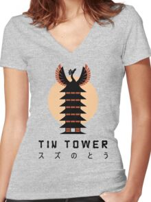 Tin Tower Women's Fitted V-Neck T-Shirt