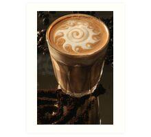 Latte Art- swirl Art Print