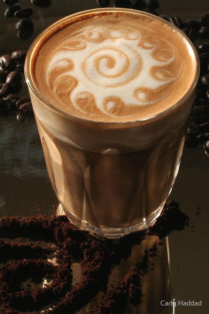 Latte Art- swirl by Carly Haddad