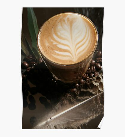 Latte Art- Feather Poster