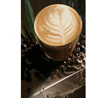 Latte Art- Feather Photographic Print