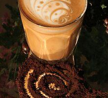 Latte Art- swirl2 by Carly Haddad