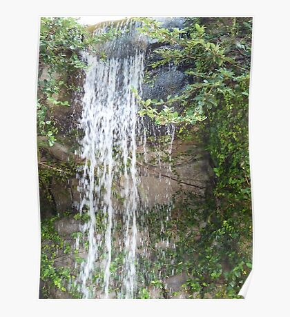 gentle waterfalls in exotic locale Poster