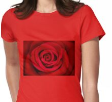 Red Flame Womens Fitted T-Shirt