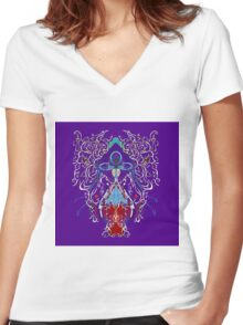 PINEAL Women's Fitted V-Neck T-Shirt