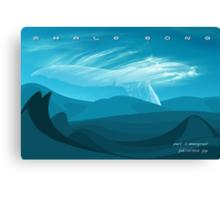 Whale Song part 3 Canvas Print