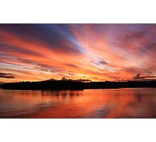 river fire Photographic Print