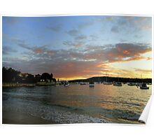 Sunset, Manly, Sydney, NSW, Australia Poster