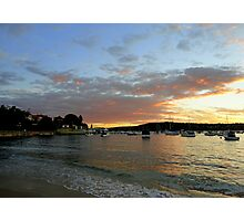 Sunset, Manly, Sydney, NSW, Australia Photographic Print