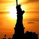 Liberty at sunset by John Dalkin