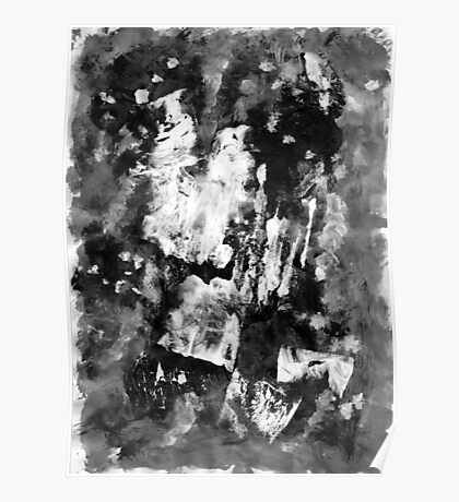Gray Abstract Composition Poster