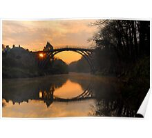'Sunrise' Ironbridge Poster