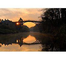 'Sunrise' Ironbridge Photographic Print