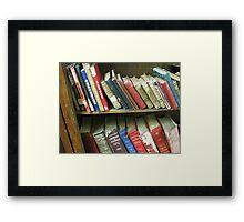 Library Framed Print