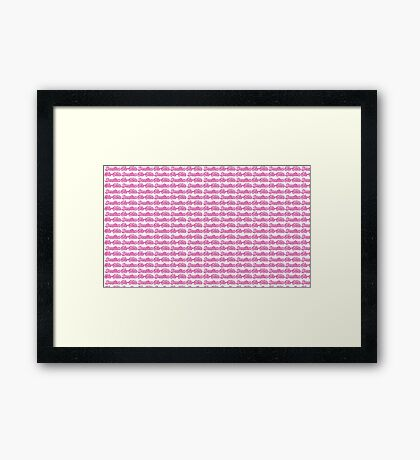 Brazilian Jiu Jitsu Pink  Framed Print