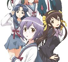 Haruhi Suzumiya - Yuki Nagato - The Disappearance of Nagato Yuki-chan - Cover Poster (CLEANED RENDER) (Text Removed) by frc qt