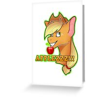 APPLEZZZ!!! MLP Apple Jack  Greeting Card
