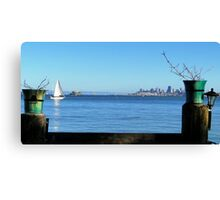 San Fran Framed Canvas Print