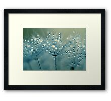 Shower Blue Framed Print