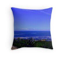 Blue Horizon Throw Pillow