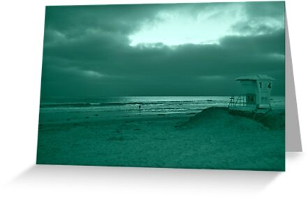 Blue Green Day At The Beach by Christian Eccleston