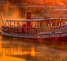 Dawn on Stockholm Harbour by raymac