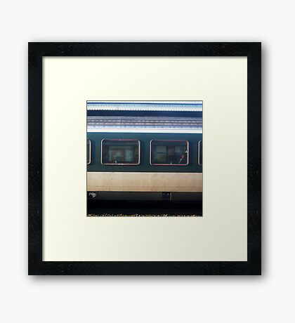 Vevey Station - The Commuters Framed Print
