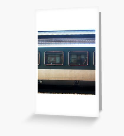Vevey Station - The Commuters Greeting Card