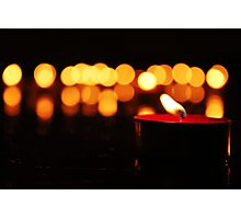 Angel Candles Photographic Print