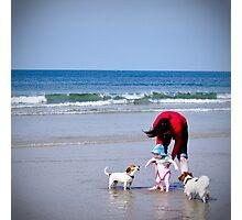Fun at the beach Photographic Print