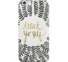 Treat Yo Self – Black & Gold iPhone Case/Skin