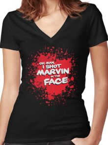 IN THE FACE !!! Women's Fitted V-Neck T-Shirt