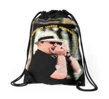the blues will never die! Drawstring Bag