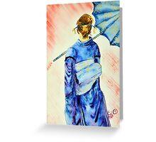 """ So Claim"" Kimono Girls series 09 Greeting Card"