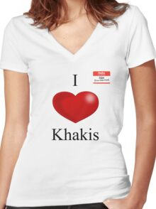 Jake from State Farm - Khakis Women's Fitted V-Neck T-Shirt