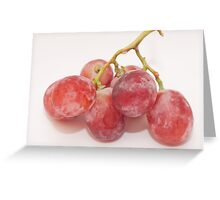 Red grape Greeting Card