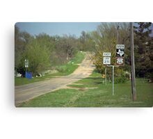 Route 66 - Alanreed, Texas Canvas Print