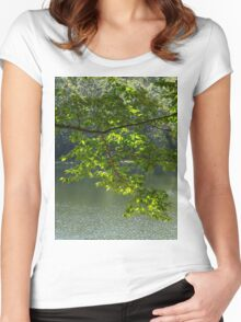 All is still green for now Women's Fitted Scoop T-Shirt