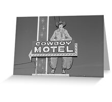 Route 66 - Cowboy Motel Greeting Card