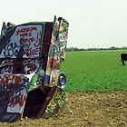 Route 66 - Cadillac Ranch by Frank Romeo