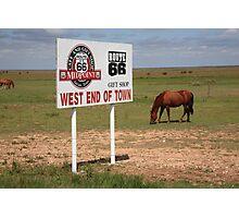 Route 66 - Adrian, Texas Photographic Print